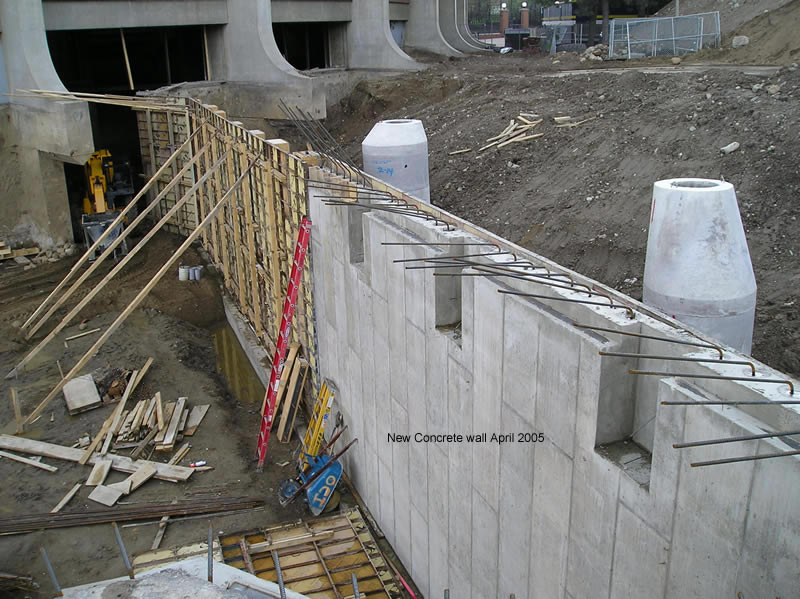 Concrete Wall Construction : New concrete wall architecture engineering and construction